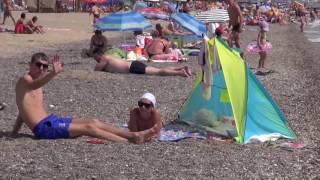 Прибрежное Крым Аквапарк пляж Поездка на море(Прибрежное — небольшой поселочек, расположенный между Евпаторией и г. Саки, вблизи самого большого в Крыму..., 2016-06-14T07:07:02.000Z)