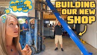 BUILDING OUR DREAM GARAGE!!