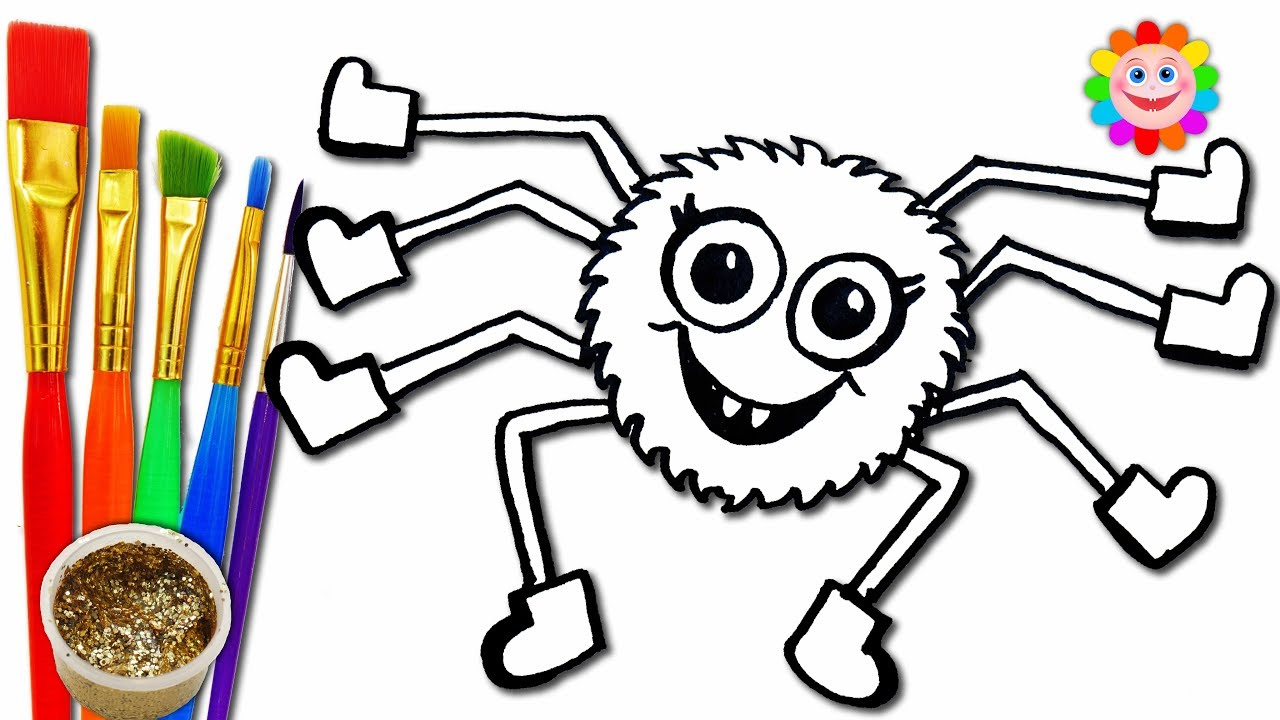 how to draw incy wincy spider coloring pages nurshery rhymes for