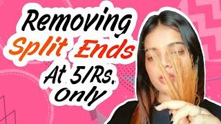 Get rid of Split ends & dryness overnight.