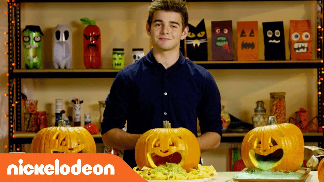 Halloween Hacks | Creating Puking Pumpkins w/ Jack Griffo | Nick ...