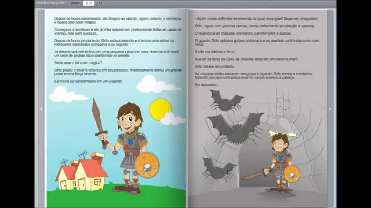 Top Livro Digital Infantil - As Aventuras de Grilo - YouTube GU84
