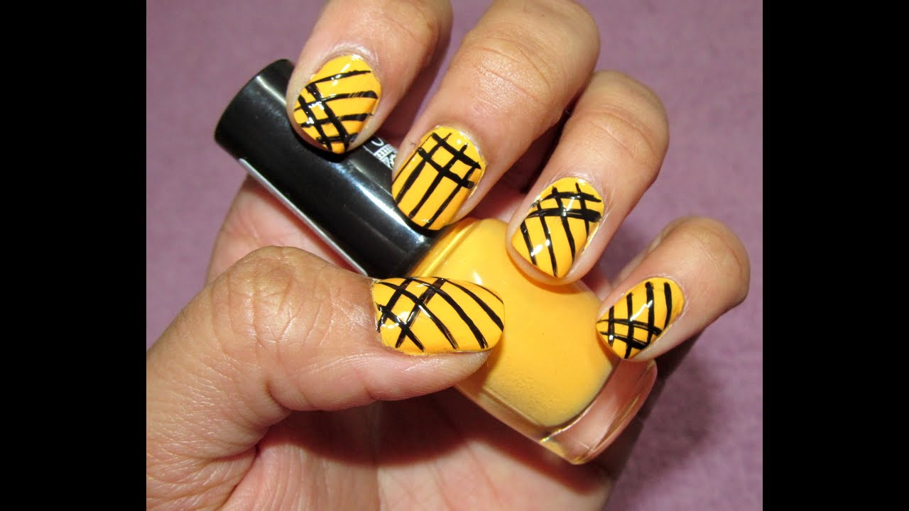 simple lines Nail art design, simple line Manicure, lneas ...