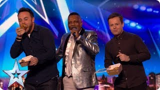 Preview  Audley Buckle's chicken and chips song is finger lickin' good   Britain's Got Talent 2017