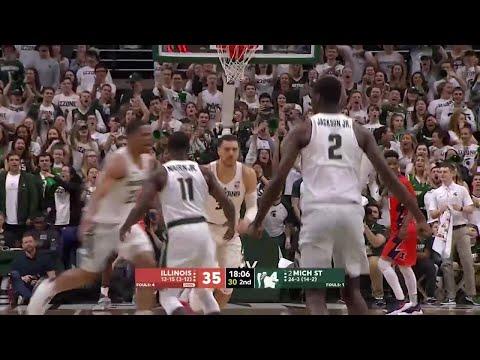 Big Ten Men's Basketball: Illinois at Michigan State
