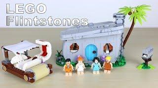 LEGO Ideas The Flintstones 21316: Familie Feuerstein zusammengebaut