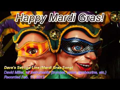 Dave's Second Line (Mardi Gras Song) [Final Mix] - David Miller, trumpet