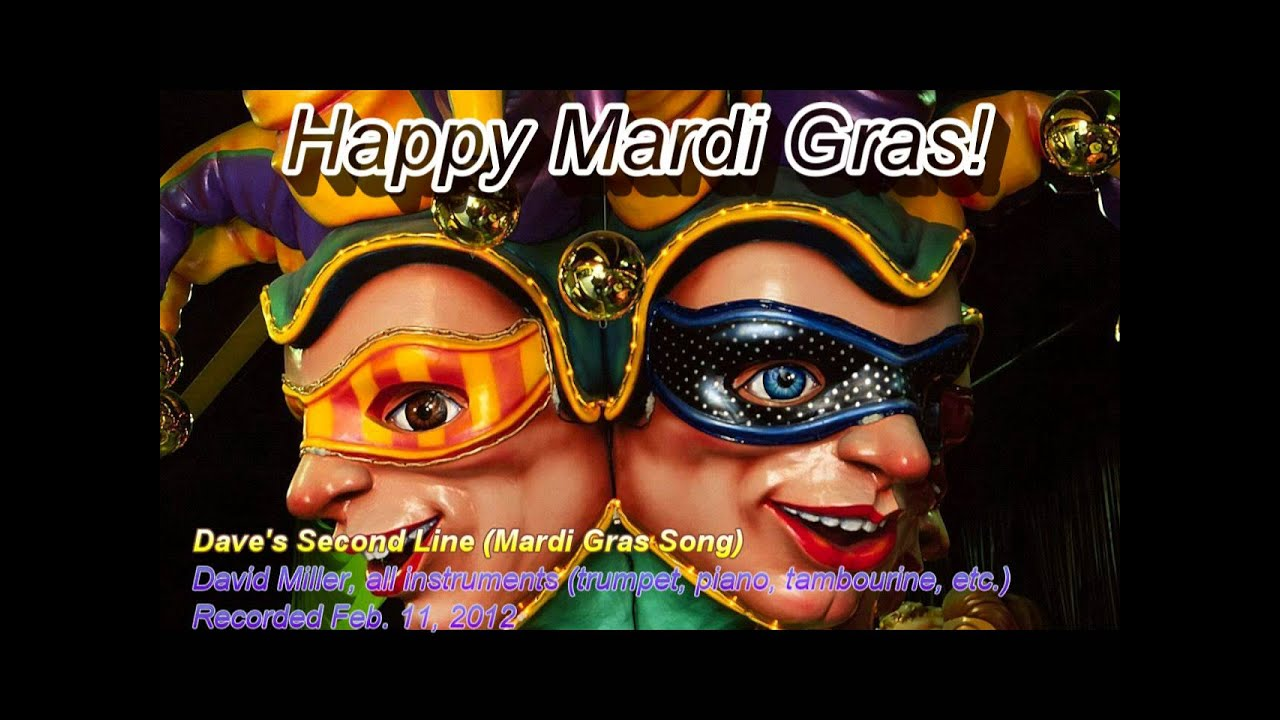 Dave S Second Line Mardi Gras Song Final Mix David Miller Trumpet Youtube