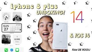 IPHONE 8 PLUS UNBOXING & DIT IS MIJN IOS14 || unboxing ||| Fam de Rooij