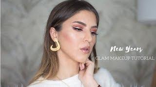 New Years Glam Makeup Tutorial / مكياج للحفلات