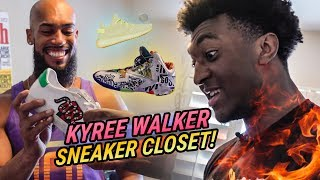 """Nobody In The Country Has These."" Kyree Walker Shows Off INSANE Sneaker Closet 😱"