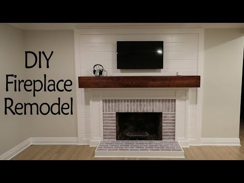 DIY Fireplace Remodel Pt 2: Shiplap, Painting and More!