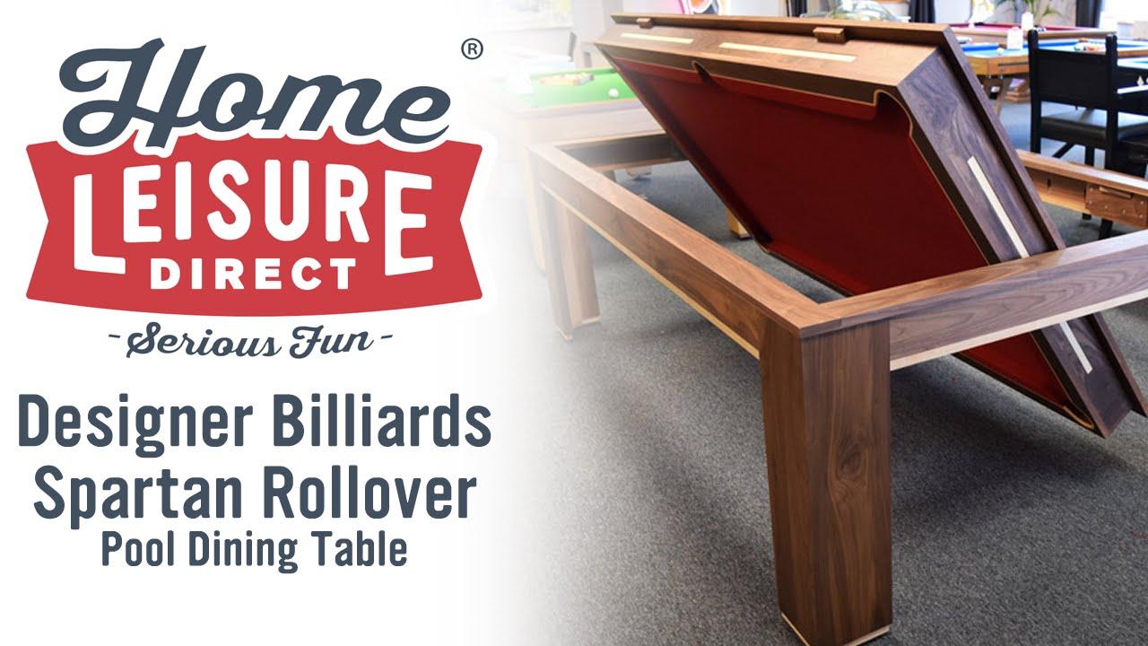 Designer Billiards Spartan Rollover Pool Dining Table