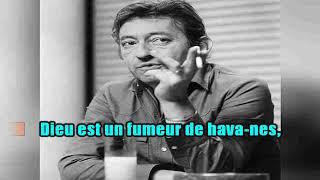 KARAOKÉ Serge Gainsbourg & Cath  Deneuve  Dieu Est Un Fumeur De Havanes