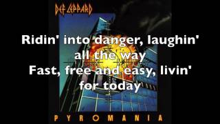 Rock! Rock! Till you Drop by Def Leppard - Lyrics