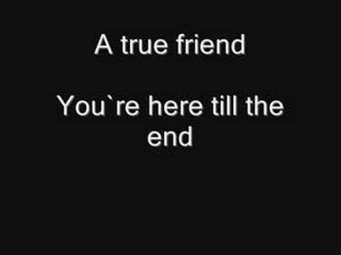 Miley Cyrus-True Friend with Lyrics