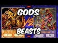 Yugioh EGYPTIAN GODS vs SACRED BEASTS DECK (Yu-gi-oh God Card Deck Duel!)