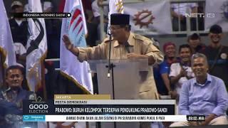 Good Election : Di Hadapan Buruh, Prabowo Joget Beberapa Kali
