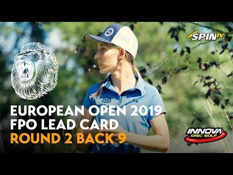 European Open 2019 FPO Lead Card Round 2 Back 9 (Pierce, Blomroos, Allen, Tattar)