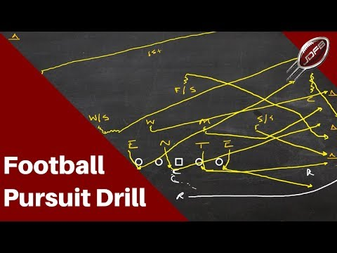How to Coach the Pursuit Drill for Better Tackling | Joe Daniel Football Live!