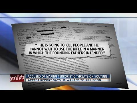 Las Vegas man accused of making terrorist threats on YouTube behind bars.
