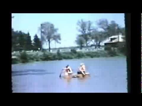 Seward Nebraska 1960's home made Rafts on Ice skating pond Seward Park