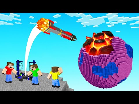 We Blew Up Minecraft Planets With MISSILES!