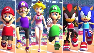 Mario & Sonic at the Olympic Games Tokyo 2020 - 100m (All Characters)