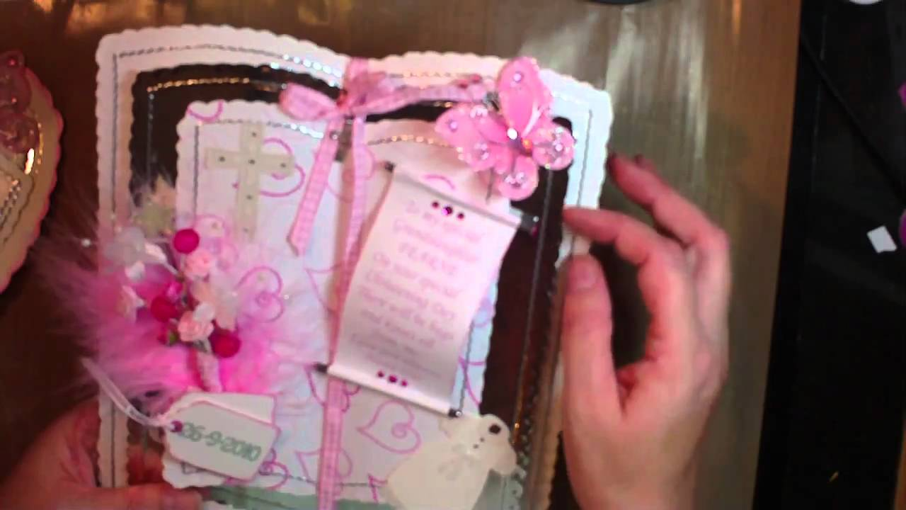 Handmade Christening Cards Youtube