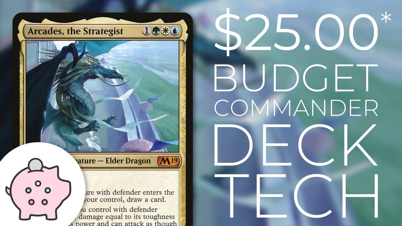 Arcades, the Strategist - EDH Budget Deck Tech $25 | Magic the Gathering |  Commander