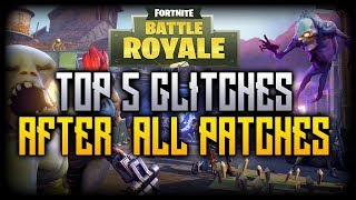 FORTNITE: *5 INSANE GLITCHES AND HIDING SPOTS* IN FORTNITE BATTLE ROYAL