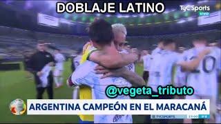Abrazo entre Messi y Neymar - Doblaje Latino