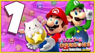 Puzzle & Dragons:  Super Mario Bros. Part 1 LUIGI POWER!!