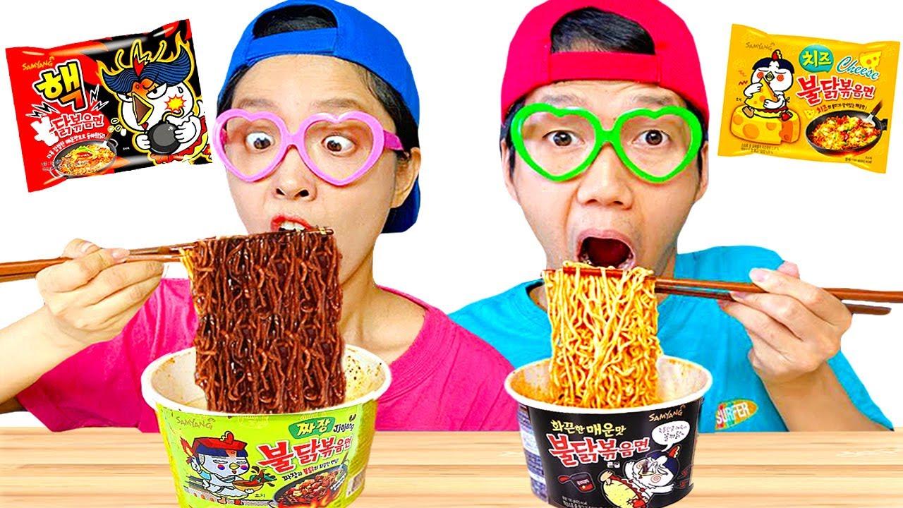 Mukbang Fire Spicy Noodle DONA Yummy Mukbang