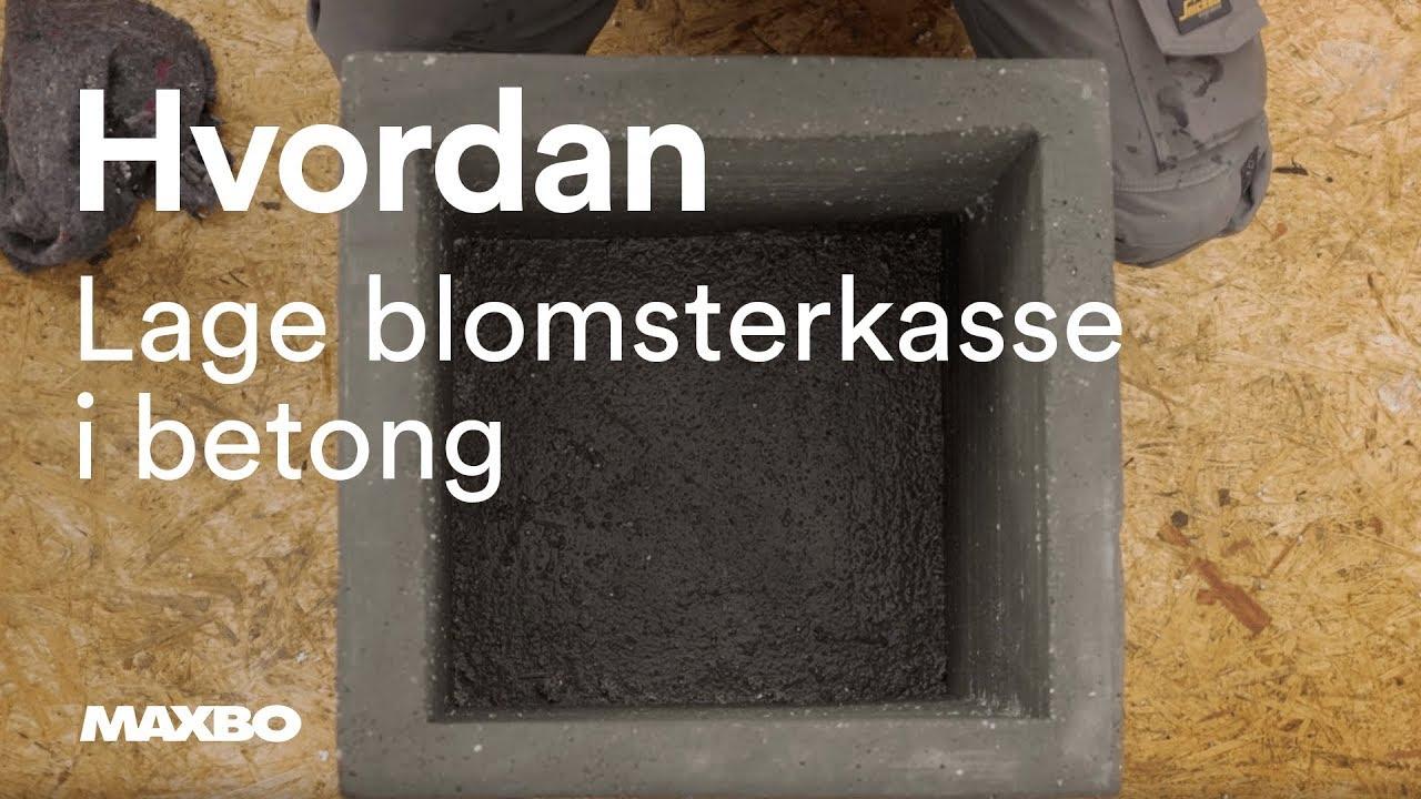 Hvordan lage en betong form