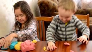 Скажите пластилину НЕТ! СУПЕР рецепт соленого теста для лепки / Поделки с малышами #1