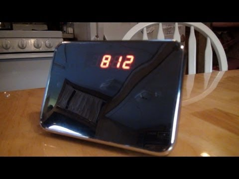 DEMO VIDEO  actual video from Mirror Face SPY cam Table Clock
