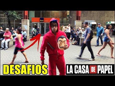 ENTREI NO BANCO MASCARADO #DESAFIOS LA CASA DE PAPEL