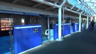 釜山都市鉄道4号線 安平基地簡易乗降場 列車発車の様子