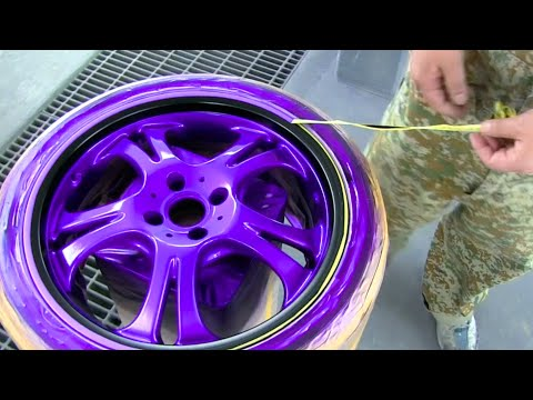 Easy way to paint candy purple / Custom painting method / How to paint car wheels / カスタムペイント