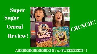 Foodmania Review: Super Sugar Cereal - Cap' Crunch Sprinkled Donut Crunch & Spongebob