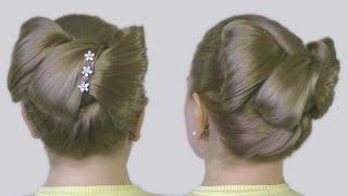 Как Сделать Бант из Волос Видео Схема Прически Hair Bow Tutorial Hairstyle Half-Updo for Long Hair
