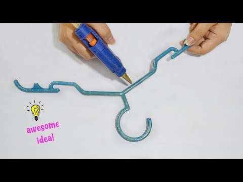 Simple and easy recycle craft with old broken hanger| How to recycle old hanger| best reuse idea