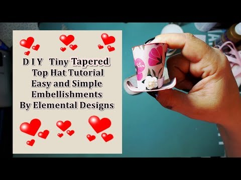 How to make : Mad Hatter's Tiny Tapered Top Hat Tutorial // easy Tutorial