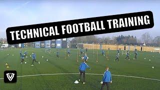 technical training u11 u12 u13 u14 techniektraining voetbal football soccer coaching drill exercise