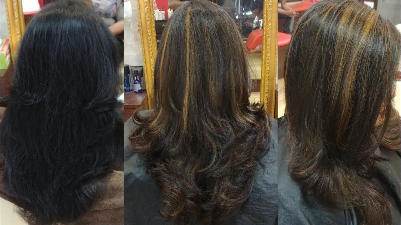 Soft Blonde Highlights On Black Hair Hair Transformation Kolkata