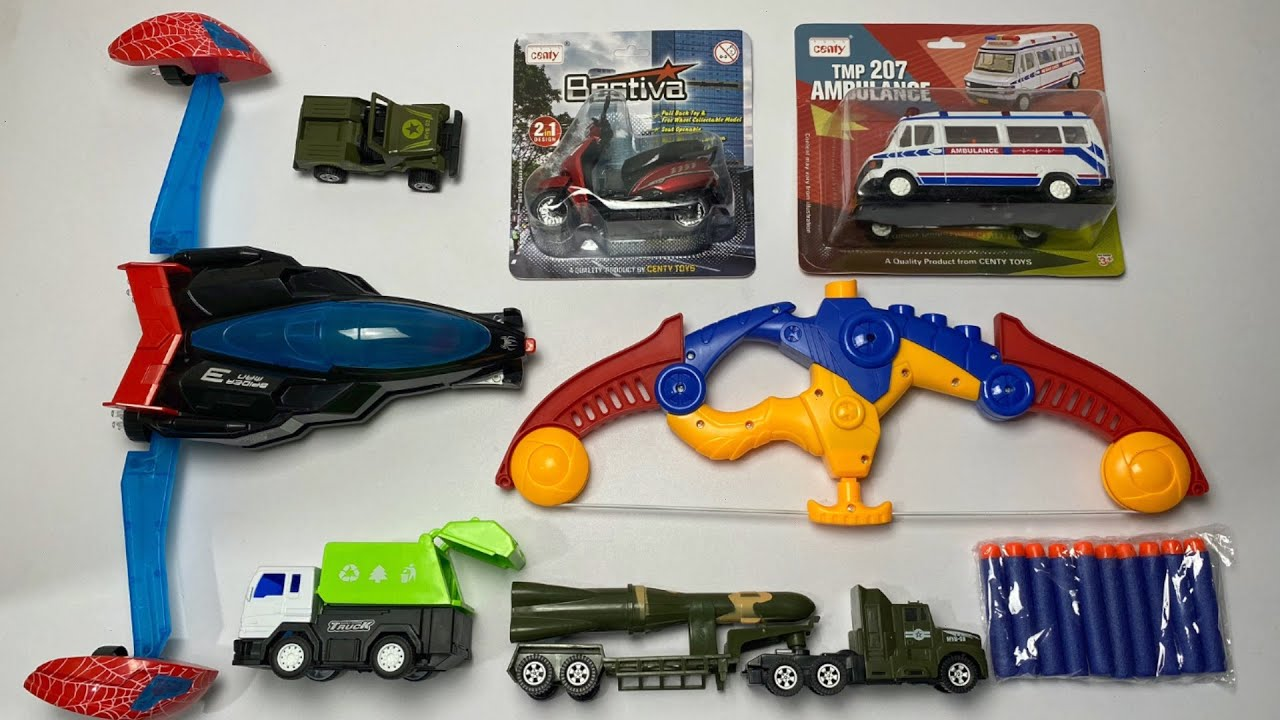 My Latest Cheapest toys Collection, robot car, scotty toy, ambulance, bow toy, military  truck