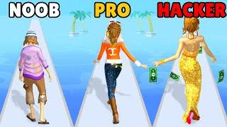 NOOB vs PRO vs HACKER in Run Rich 3D screenshot 1