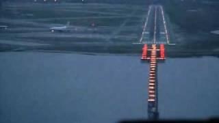 NYC_742F JFK Rwy4R Visual Landing in early morning thumbnail