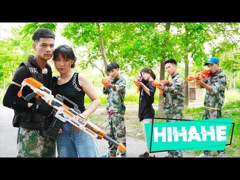Hihahe Nerf War: Captain SWAT Nerf Guns Robber Legion Rescue Girl Traitor